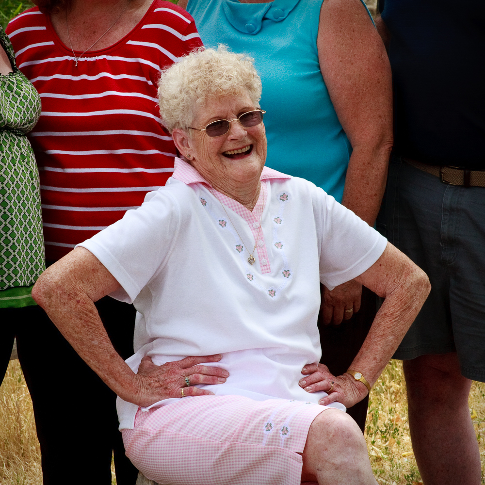 Grandma in 2010, during a family reunion in Arizona.